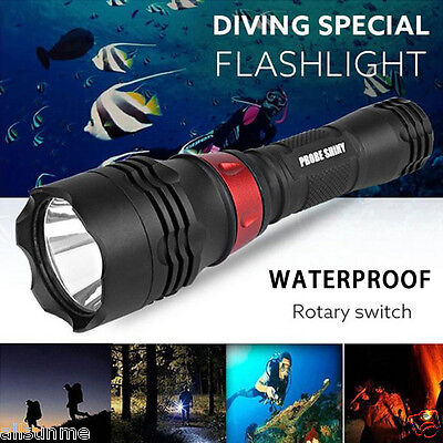 Underwater 500M 5000LM XM-L T6 LED Camping Diving Flashlight Waterproof Torch