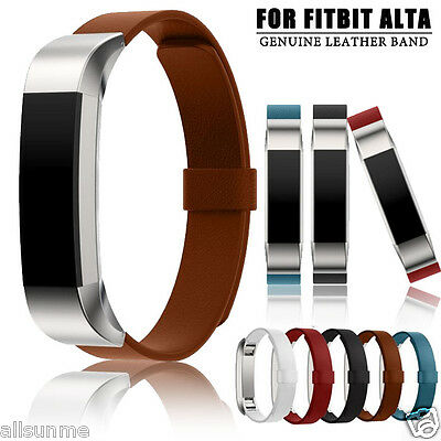 Luxury Magnetic Loop Genuine Leather Band Strap Bracelet For Fitbit Alta Tracker