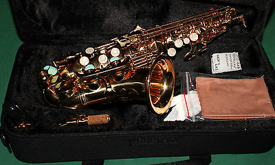 SAXOPHONE SOPRANO COURBE' Sib+Fa# NEW ORLEANS® LACQUER OR + REEDS + CD