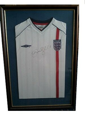 David Beckham signed and framed England shirt