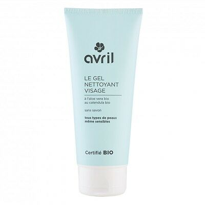 Gel nettoyant visage  avril 100ml BIO soin du visage aloé véra made in france