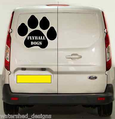 Flyball Decal Fly Ball Sticker Van Decal, Agility Dogs on Board Flyball racing