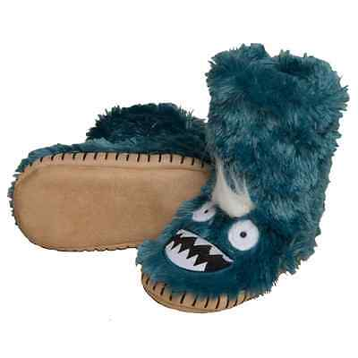 Hatley Kids Fluffy Slippers Ice Monsters