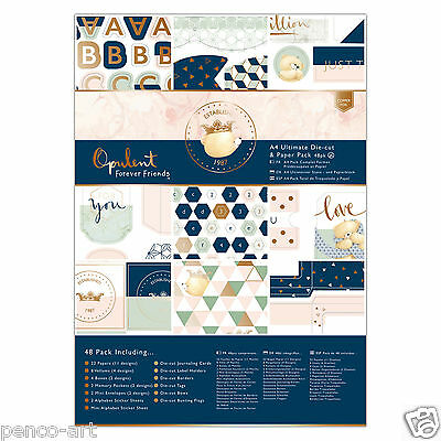 Papermania Ultimate A4 48 pk Forever Friends Opulent foiled paper toppers tags
