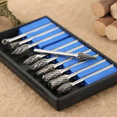 Set of 10 Tungsten Steel Solid Carbide Burrs For Dremel Rotary Tool Drill Bit