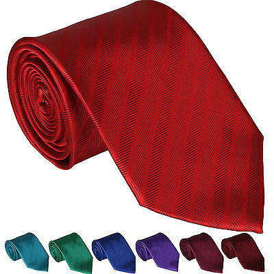New Mens Tie Satin Herringbone Necktie Classic Wedding Office Business Plain Lot