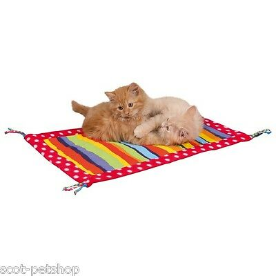 Cat Kitten Brightly Coloured Fleece Canvas Play Mat | Cats Kittens 55 x 37 cm