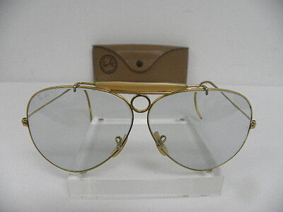 be6083f207c Vintage B L Ray Ban Shooter 62mm Changeable Blue Gray Gold Cable Wrap Temple