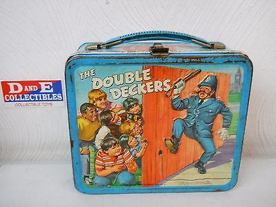 Vintage 1970 Aladdin The Double Deckers Metal Lunchbox Lunch Box No Thermos