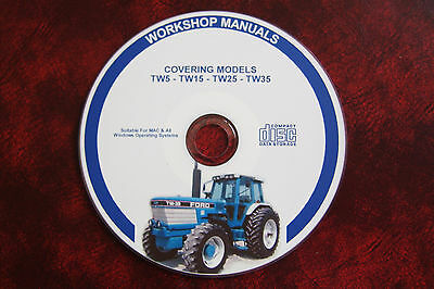 Ford Tw5, Tw15, Tw25 & Tw35 Tractor Workshop Service Repair Manual