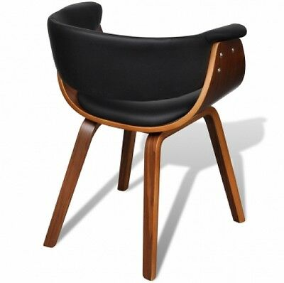 Retro Design Dining Room Chair Brown Wooden Armchair Vintage w Armrest Seat Gift