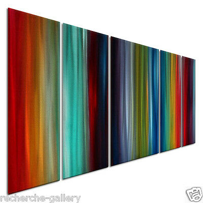 Fresh And Exciting Abstract Painting on Metal Wall Art by Megan Duncanson