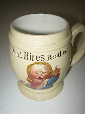 Antique Hires Root Beer Mug by Villeroy & Boch Germany 1907