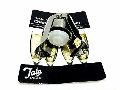 Tala Champagne Bottle Stopper Stainless Steel Sparkling Wine Cork Saver Plug