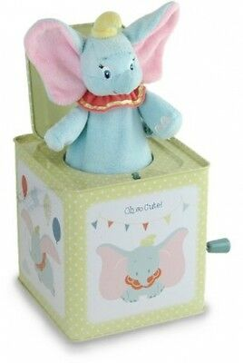 Kids Preferred Dumbo Jack-in-the-Box Stuffed Soft Plush Infant Elephant Gift Toy
