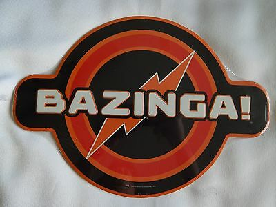 The Big Bang Theory (NEW) BAZINGA! Embossed Metal (Tin) Sign (Wall Décor)