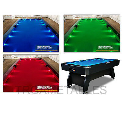 7FT Modern Design Black / Blue Pool Table for Snooker Billiards Free Accessory