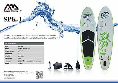 Aquamarina SPK-1 Gonflable Planche De Paddle Tenue Debout SUP Paquet inc Rame