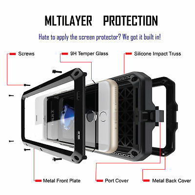 For IPHONE XS Max XR S9 Plus Aluminium Shockproof Heavy Duty Military Cover Case