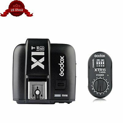 Godox X1T-S Trigger Transmitter + XTR-16 Receiver For Sony Camera AD QT QS Flash