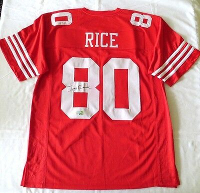 Jerry Rice Signed Autograph Xl Custom Football 49Ers Jersey Global Rice Hologram