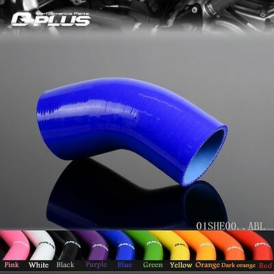 "Silicone Hoses 45 Degree Standard Elbow Hose 63mm 2.5"" Turbo Intercooler Pipe bl"