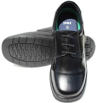 New School Shoes LEADER Black Full Leather Shoes Sizes 3 to 8 Boys Shoes
