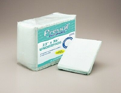 "23""x36"" Prevail Adult Disposable Underpads Chux Bed Pads Moderate Pack of 15"