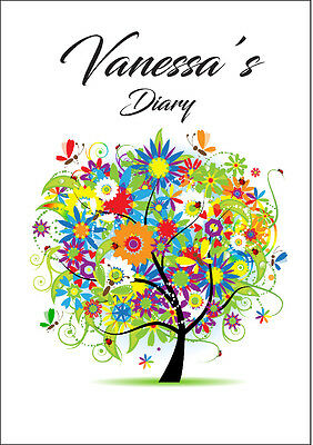 2018 diary personalised Floral tree A5