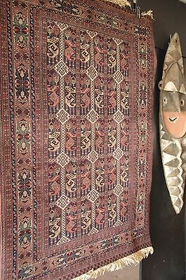 Old Turkish Handmade Pure Wool Village Rug beautiful rich colours