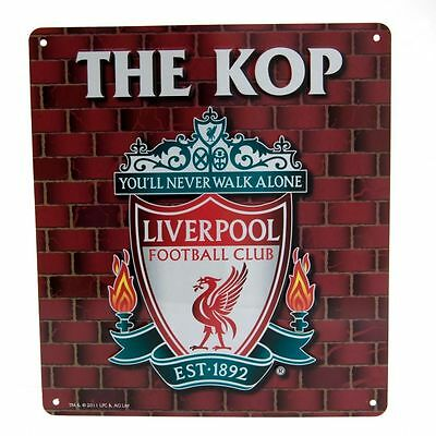 Liverpool FC Decorative Metal ''The Kop'' Sign - Official Merchandise