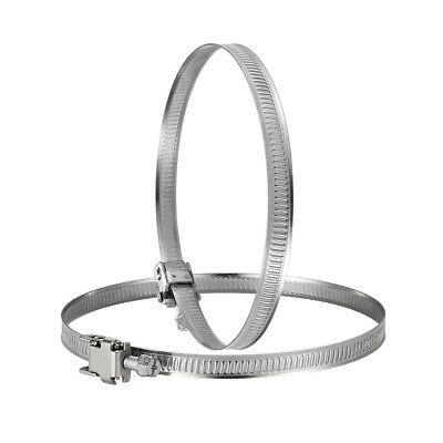 "1 Pair Worm Duct Clamps Hose Flexible Stainless Steel Fan - 4"", 5"", 6"", 8"" Inch"