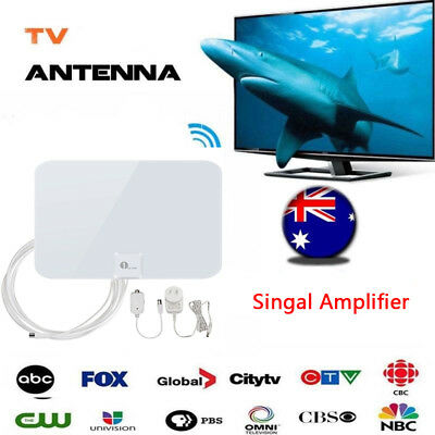 Digital Indoor Amplified HDTV TV Antenna 50 Miles 20FT  Long Coax.Cable 1080P