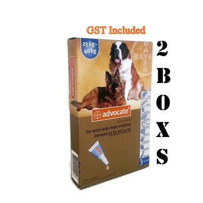 Advocate Flea & Lice Worm Multi Treatment For Dogs Over 25kg - 6 Packs BEST
