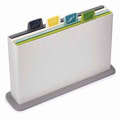 NEW Joseph Joseph Index Opal 4 Chopping Board Set Hygiene System Kitchen Cutting