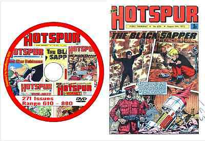 Hotspur 271 Issues range 610 - 880 on DVD Action Comic + viewing software   (3)