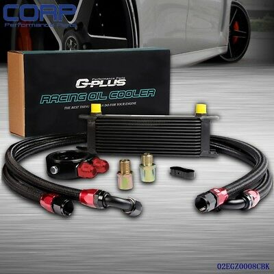 13 Row AN-10AN Universal Engine Transmission Oil Cooler + Filter Adapter Kit