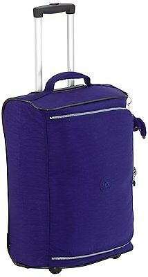 Kipling Teagan Cabin Sized 2 Wheeled Trolley Suitcase, 50 cm, Flash Blue