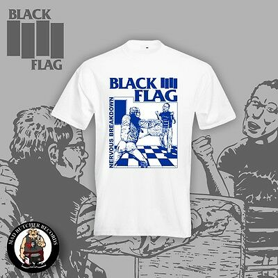 BLACK FLAG NERVOUS BREAKDOWN T-SHIRT WHITE (Größen S-5XL)