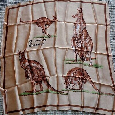 Vintage Australia souvenir scarf with hand rolled edges