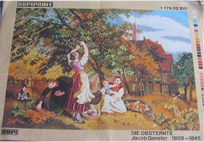 Canvas Tapestry Needlepoint Printed Canevas Gobelin Ropiprint Die Obsternte