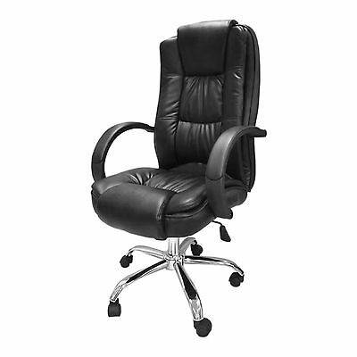 Black Santana Office Chair Business Faux Leather swivel executive computer B39