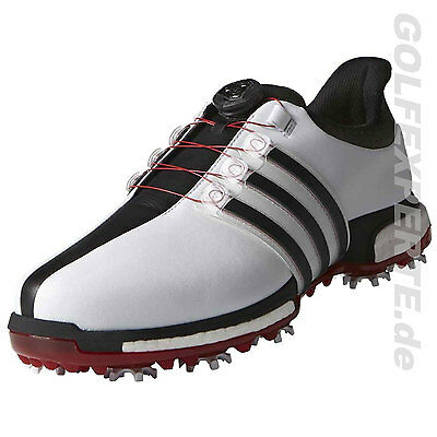 Adidas Golf Herren Tour360 Boa Boost Medium White Black Red Weiß Wasserdicht