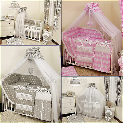 STUNNING /BABY/COT/COTBED BIG CANOPY DRAPE/585cm wide + FREE  STANDING HOLDER