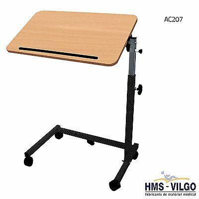 CLEARANCE - Adjustable Over Bed Table for Healthcare Environment