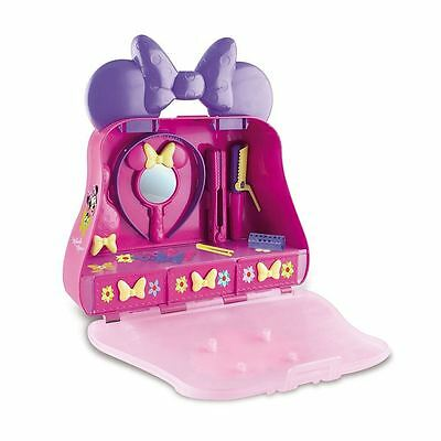 New Disney Minnie Mouse 14 Piece Beauty Case Childrens Toy Playset 3+