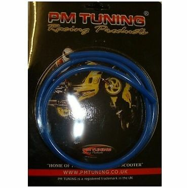 Universal 6mm x 1 Metre BLUE Fuel Petrol Pipe Line Hose - PM Tuning
