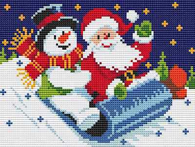 Santa & Snowman Cross Stitch Chart