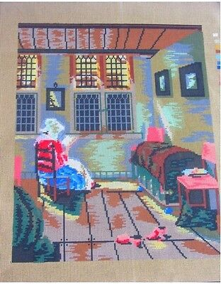 Canvas Tapestry Needlepoint Printed Canevas Gobelin Woman