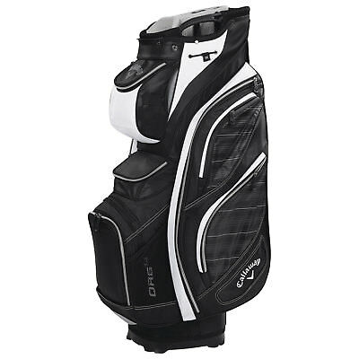 Callaway Golf Cart Bag 2016 Org 14 black-grey-white 2,50 kg mit E-Trolley-Basis